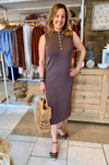 Shara Knitted Midi - Chocolate