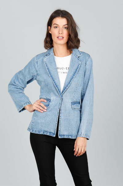 Wintour Blazer - Denim