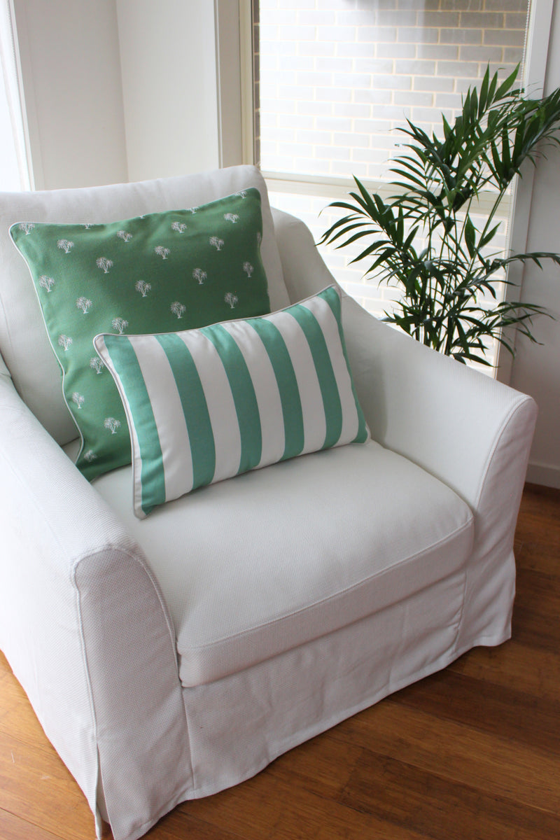 Beach Stripe Cushion - Green