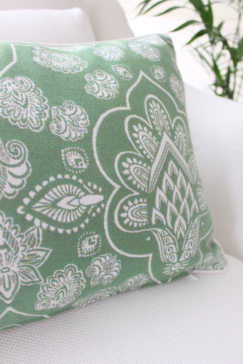 Hindi Paisley Cushion - Green