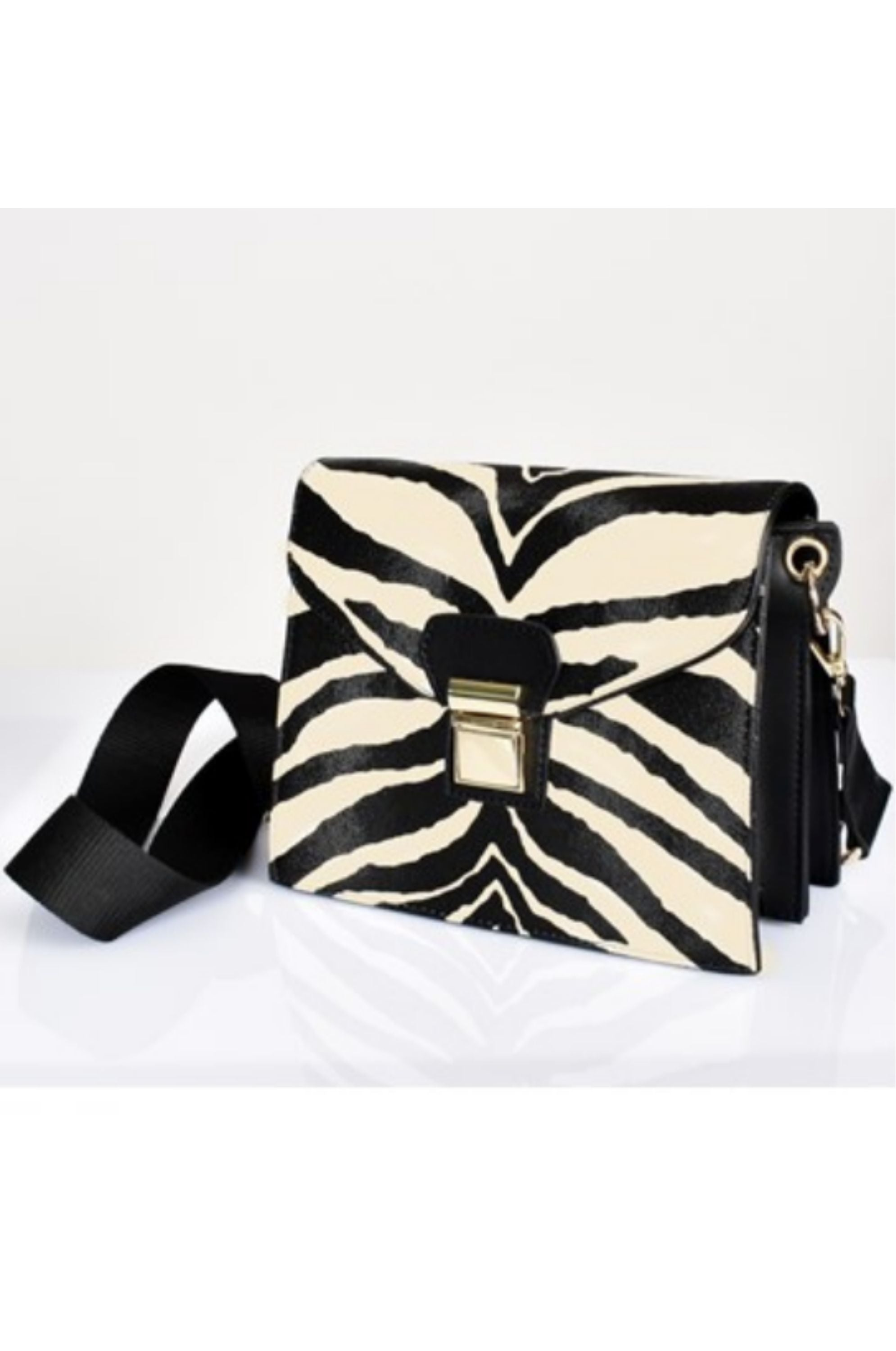 Chelsea Zebra Accordion Bag