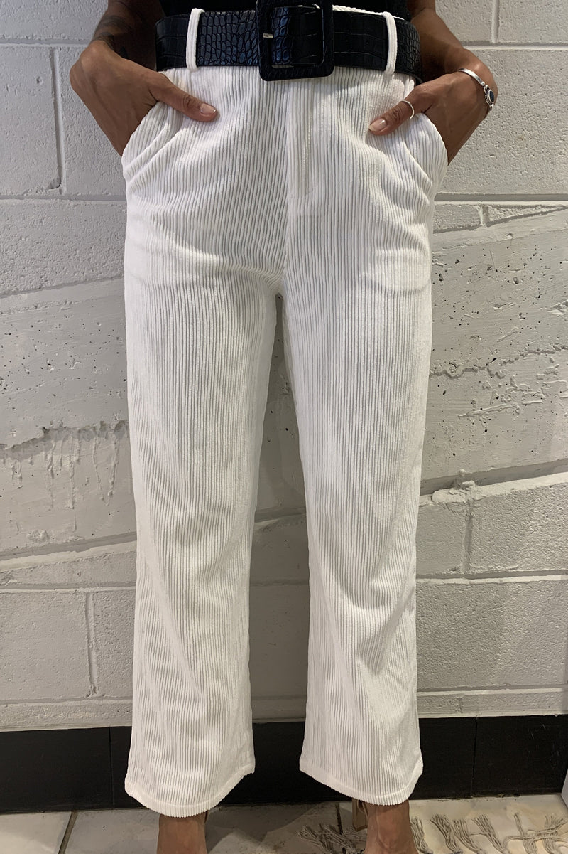 Glow Corduroy Pants - White