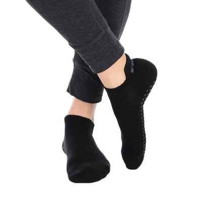 Riley Tab Back Grip Sock - Black/Black