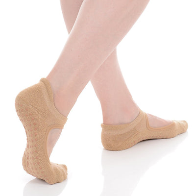Isabella Grip Sock - Sand/Gold
