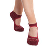 Isabella Grip Sock - Red/Lace