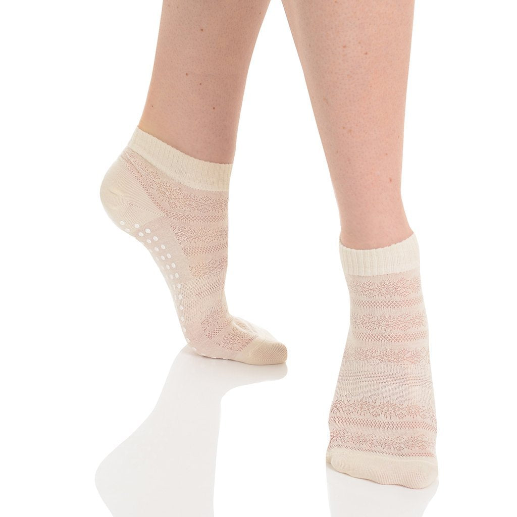 Kailey Grip Sock (Organic Cotton) - Ivory