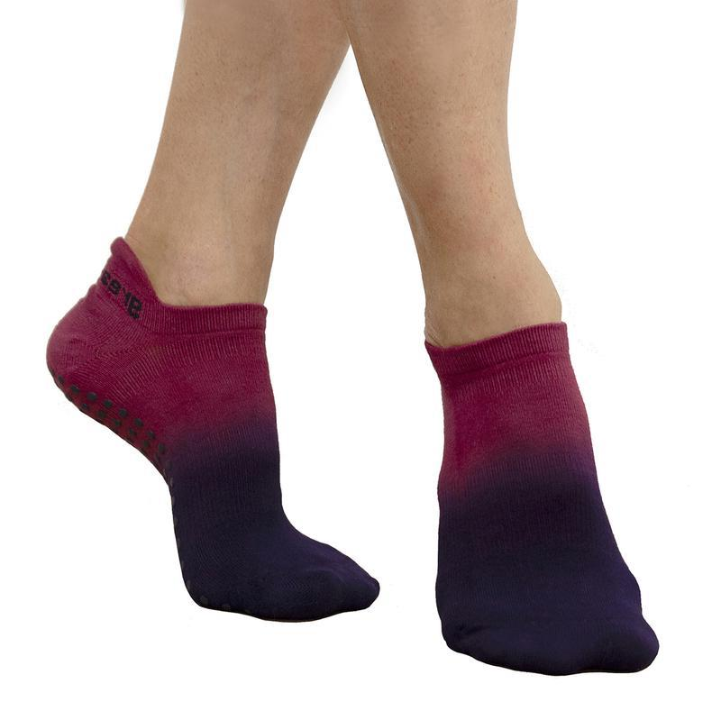 Rory Ombre Grip Sock - Berry Blue