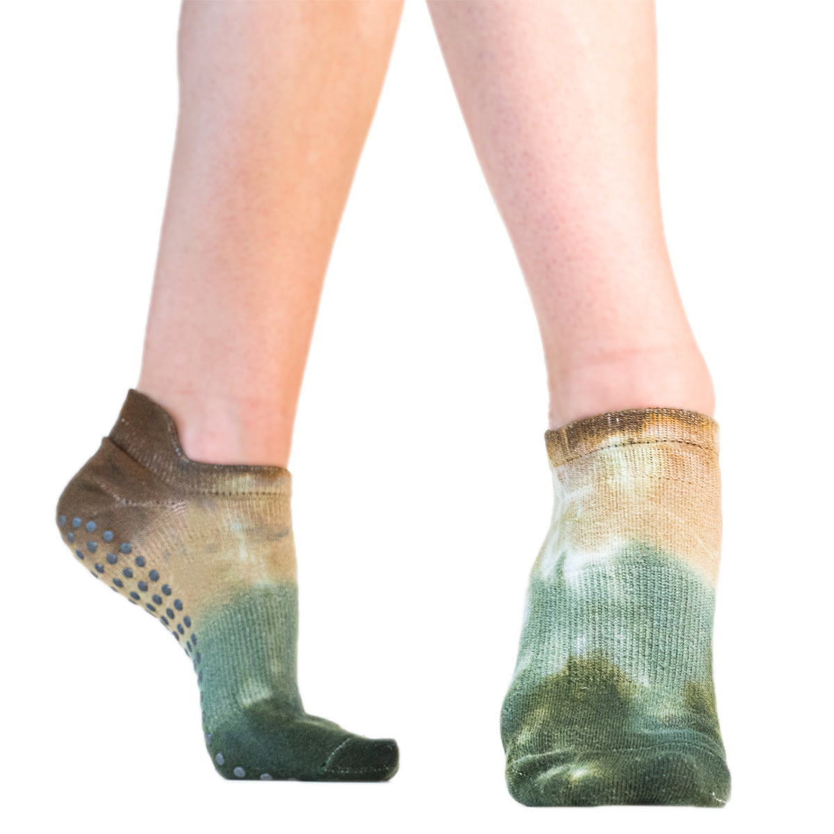 Avery Tie Dyed Grip Sock-Sagebrush