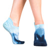 tie dyed non slip grip sock for yoga, pilates and barre