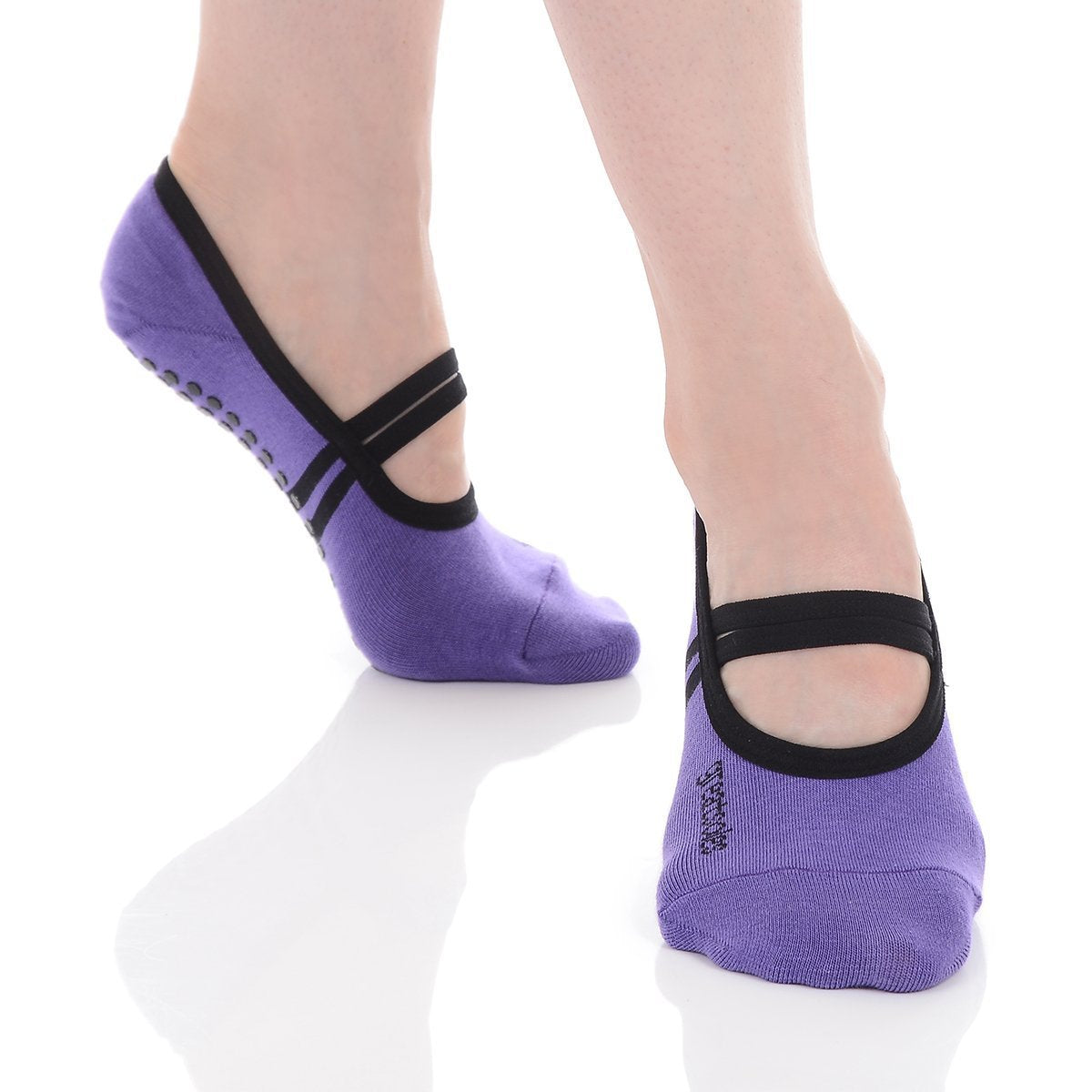 Ballet Grip Sock - Violet/Black