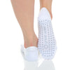 Mia Mesh Grip Sock - White/Grey