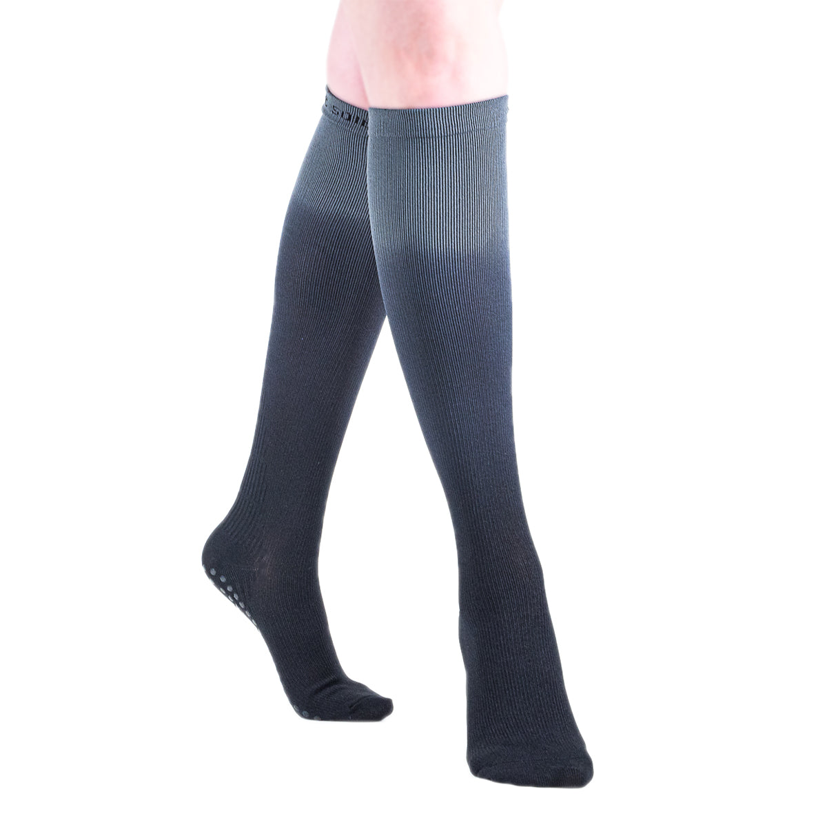 compression-socks-grip-knee-grey-ombre-pilates