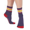 Edie Crew Grip Sock - Multi Blue