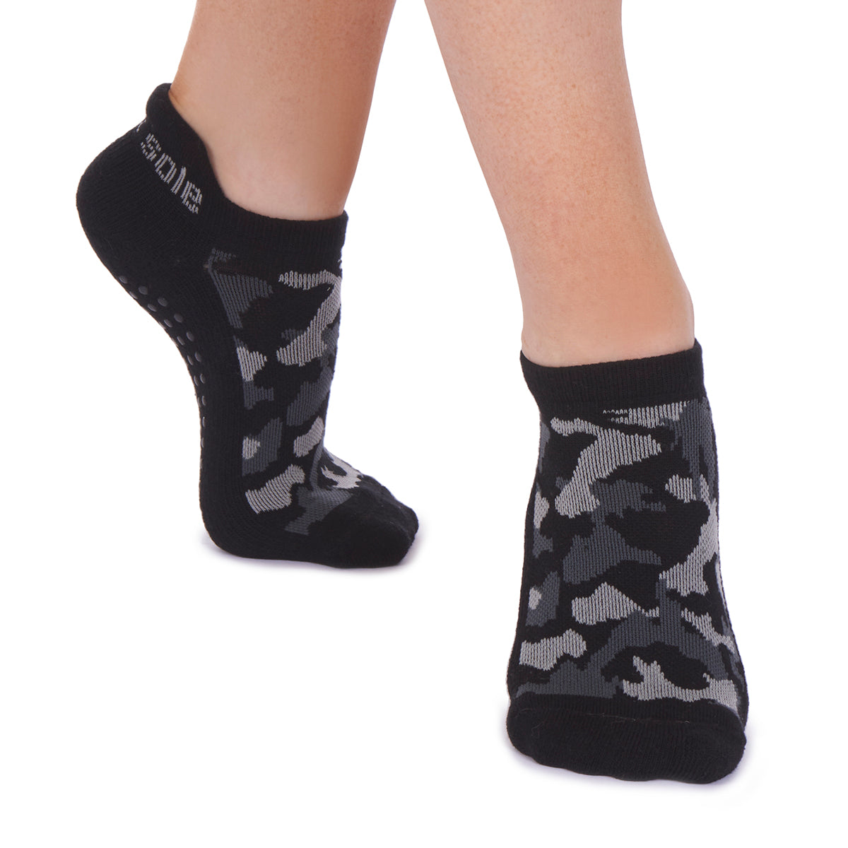 Harley Tab Back Grip Sock - Grey/Black