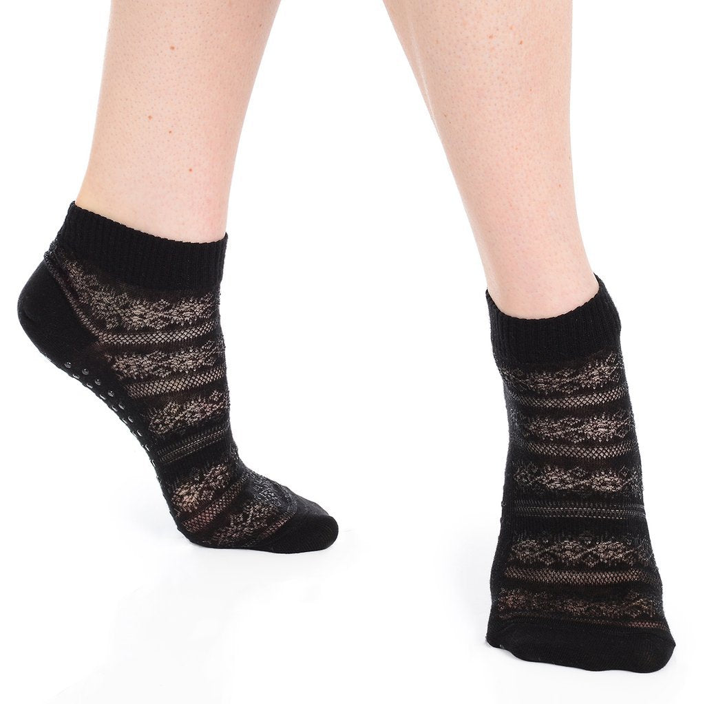 Kailey Grip Sock (Organic Cotton) - Black