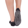 Karli Polka Dot Ballet Grip Sock - Black/White
