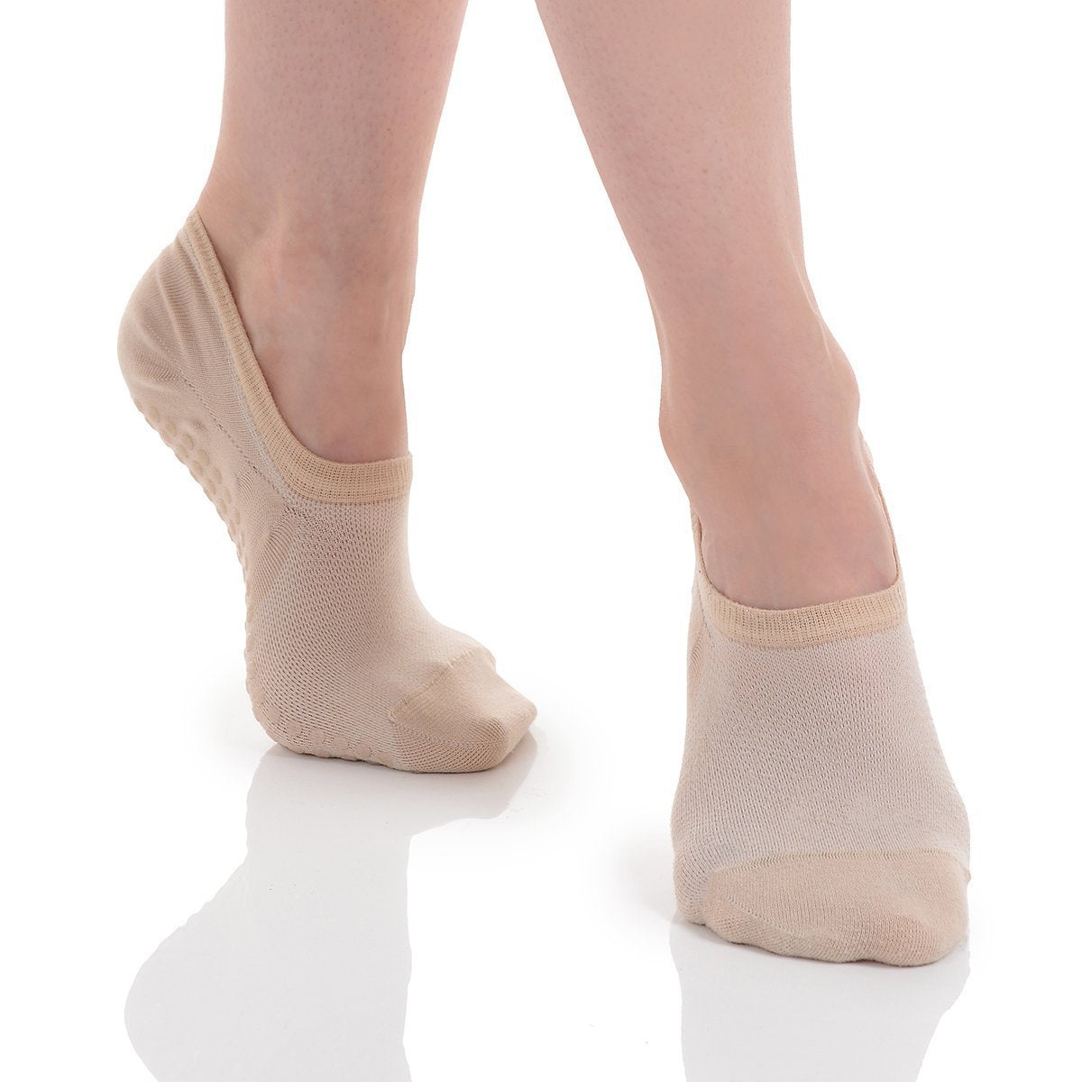 Kaia No Show Grip Sock - Natural