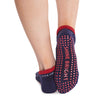 Lucy Tab Back Grip Sock - Stars Blue