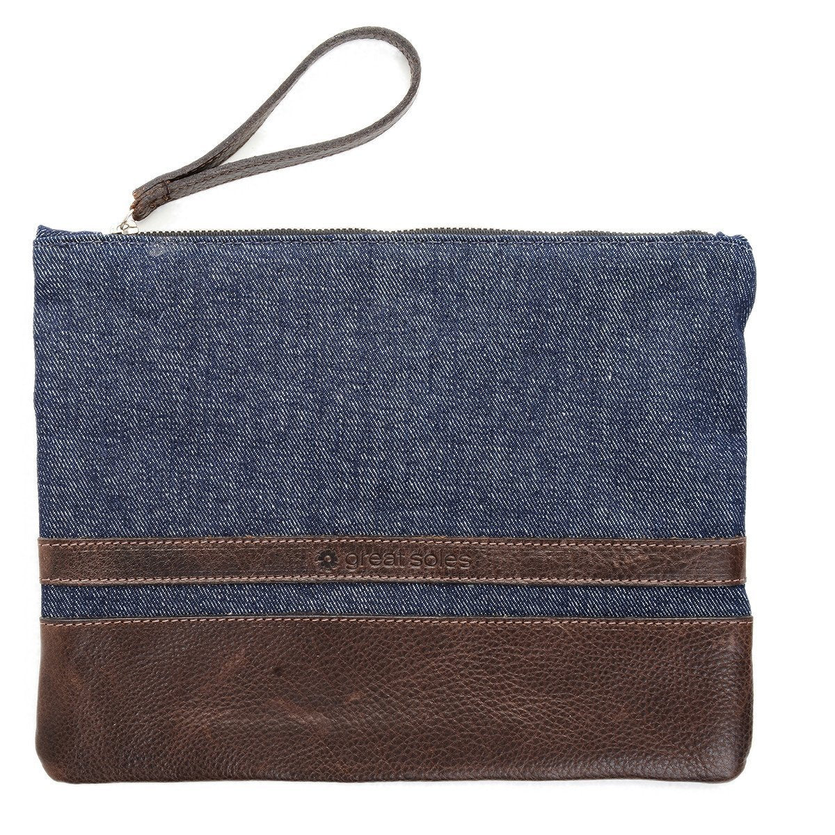 Maya Clutch - Denim
