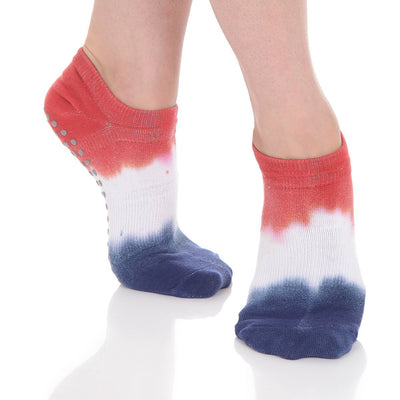 Tie Dyed Grip Sock - Lady Liberty