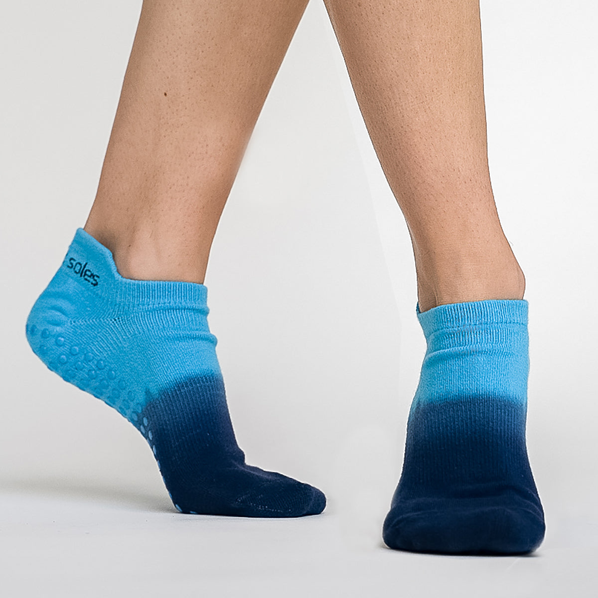 Ombre dyed nonslip  grip sock  for Pilates, Barre, Yoga and home