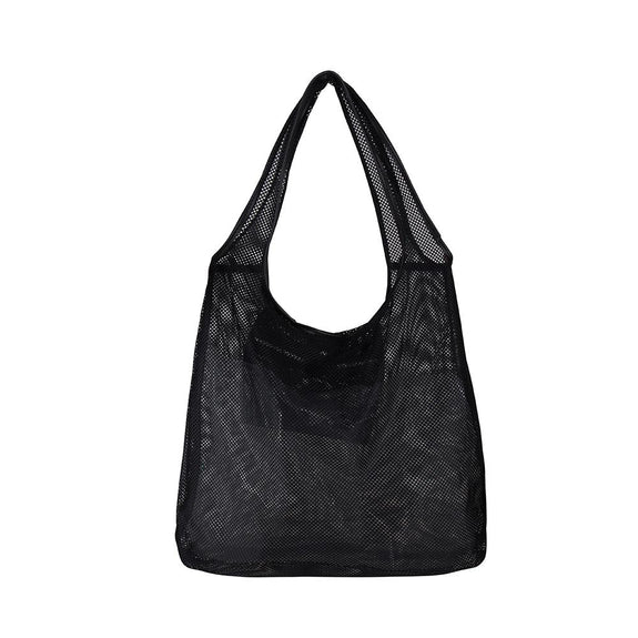 Micha Mesh Shoulder Bag - Black