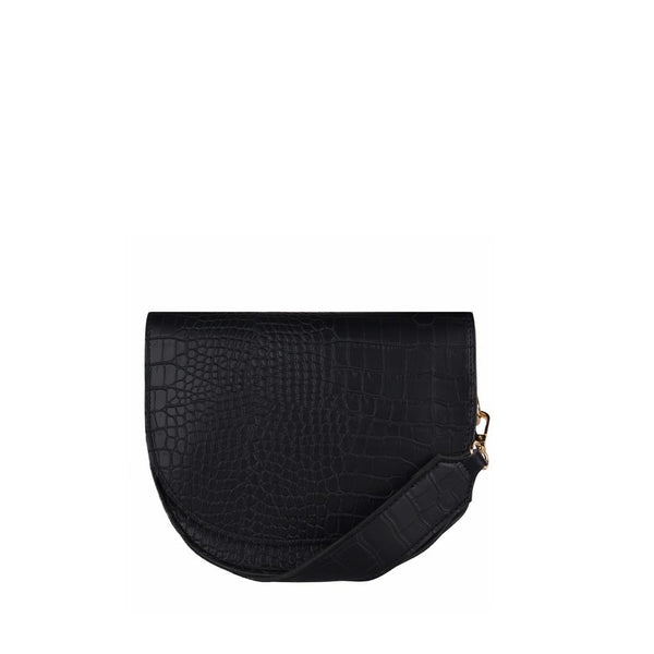 Ally Half Moon Crossbody Bag - Black