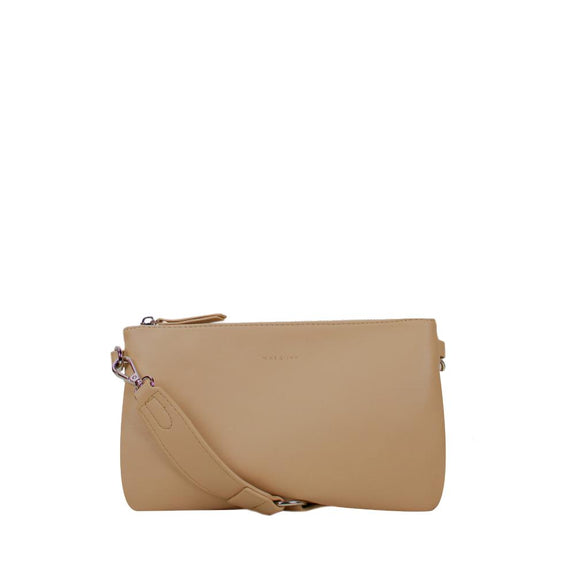 Moon Crossbody Bag - dark beige