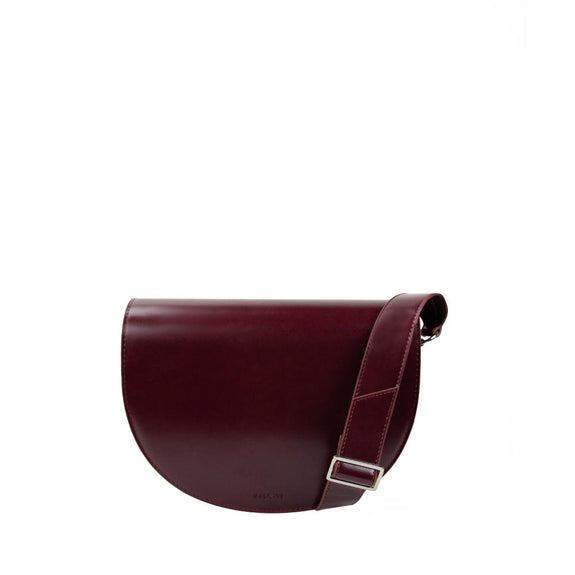 Star Half Moon Crossbody Bag - Dark Wine