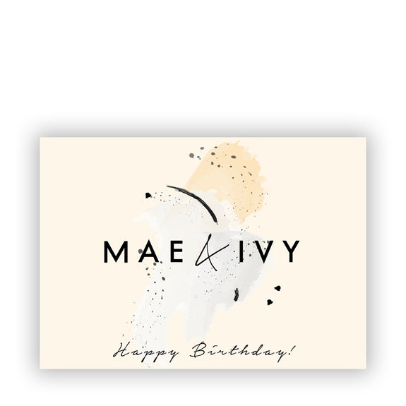 E-GIFTCARD HAPPY BIRTHDAY