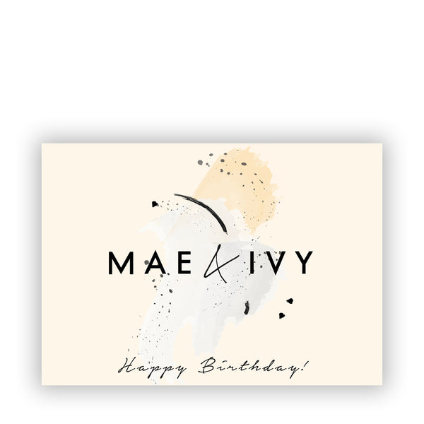 Mae&Ivy E-Giftcard Happy Birthday