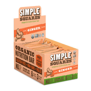 Organic Ginger Nutrition Bar (Box of 12)