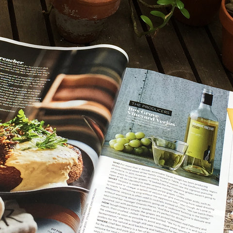 Gourmet Traveller Features our Verjus
