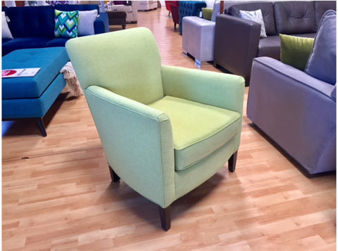 Kristie Accent Chair in Taylor - Grasscloth
