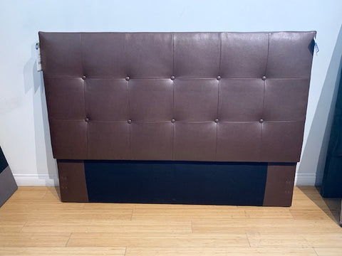 Luther Full Headboard in Cowboy - Brown