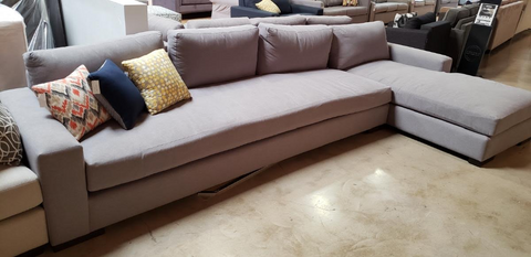 GIA - Sectional:Sofa-Big Chaise Devon/Heather (The Sofa Company)
