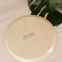 Load image into Gallery viewer, Round Birch Wood Serving Tray – Sandstone