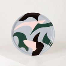 Load image into Gallery viewer, round-birch-wood-serving-tray-abstract-shapes