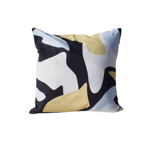 Abstract Pattern Cushion - Black and yellow