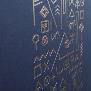 typographic-print-silver-foil-navy-blue