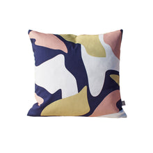 Load image into Gallery viewer, Abstract Print Cushion - Navy / Pink