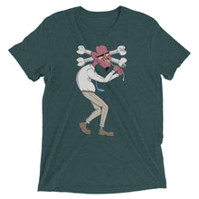 Emerald Green Graphic Tee depicting Tom as he tries to pull snot from his nose, causing his head to cave.