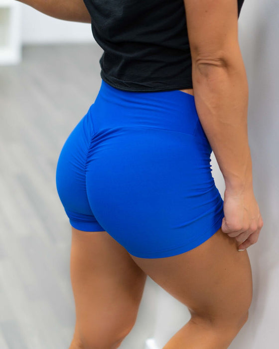 Royal Blue Booty Scrunch Shorts