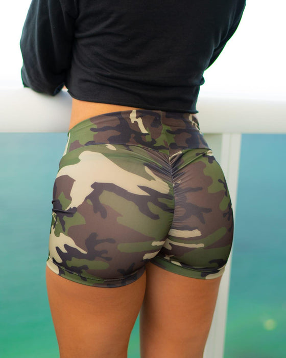 Camo Booty Scrunch Shorts