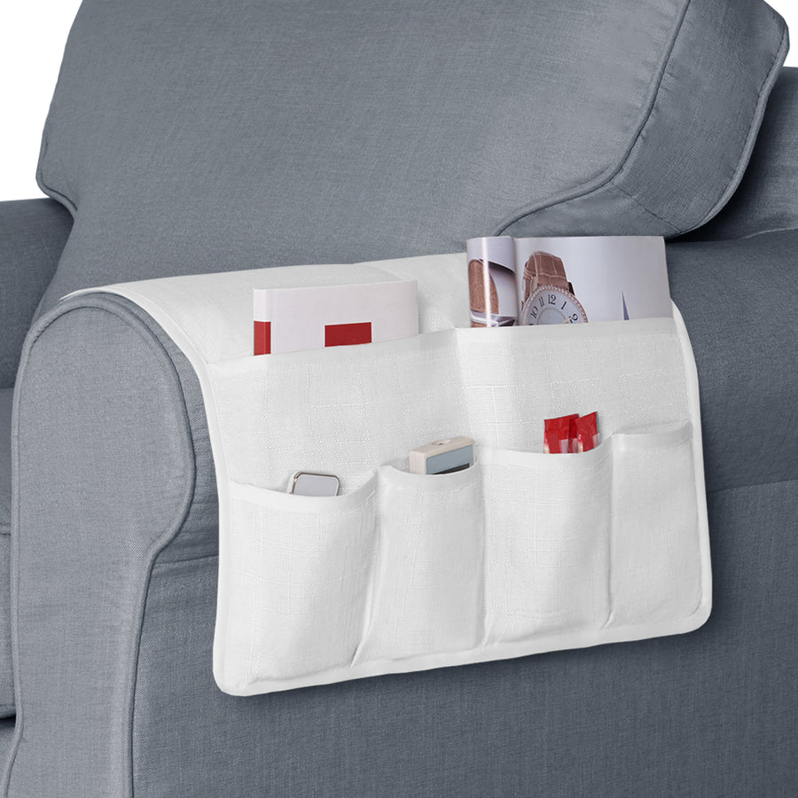Armrest Organizer with 6 Pockets for TV Control, Phone