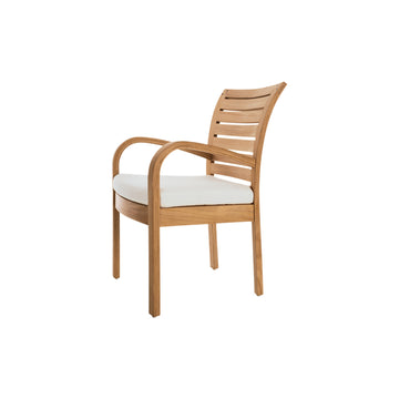 IO310 Inside Out Dining Arm Chair with Seat Cushion