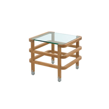 LC708  Square Occasional Table with Glass Top