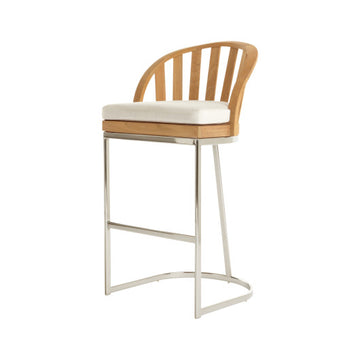 PK257  Bar Chair With Seat Cushion And Stainless Steel Base (3D+AR)