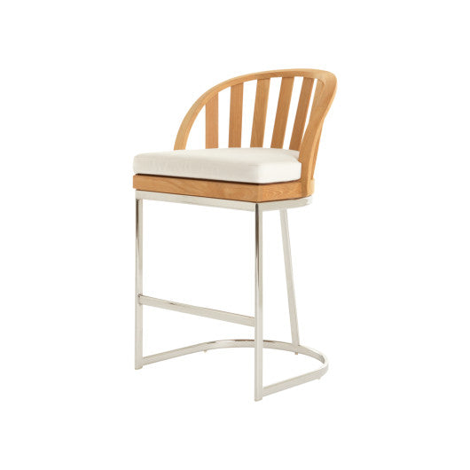 PK258  Counter Chair With Seat Cushion And Stainless Steel Base