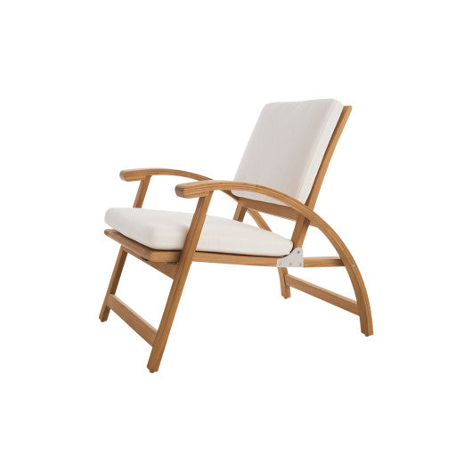 SD342 Folding Lounge Chair With Seat And Back Cushions